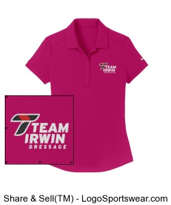 Nike Women's Polo with T on Sleeve in Pink Design Zoom