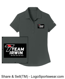 Women's Nike Polo Sports Shirt - Irwin Logo on Sleeve Design Zoom