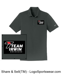 Men's Nike Polo Sports Shirt - Irwin Logo on the Sleeve Design Zoom